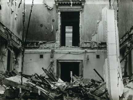 Bomb damage, Room 26