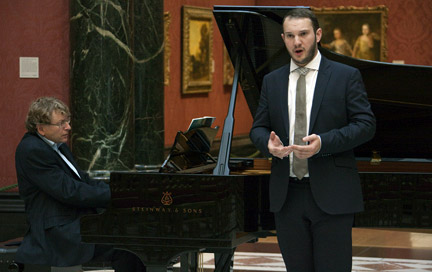 Performing at the Dame Myra Hess concert