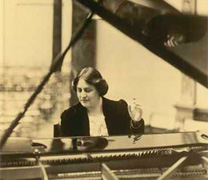 Myra Hess playing the piano