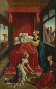 Netherlandish: 'The Birth of the Virgin (?)'