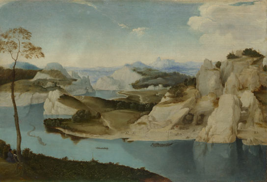Netherlandish: 'Landscape: A River among Mountains'