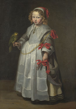 Netherlandish: 'Portrait of a Girl with a Parrot'