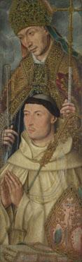 Netherlandish: 'Saint Ambrose with Ambrosius van Engelen (?)'