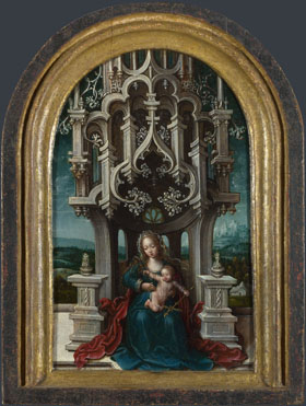 Netherlandish: 'The Virgin and Child Enthroned'