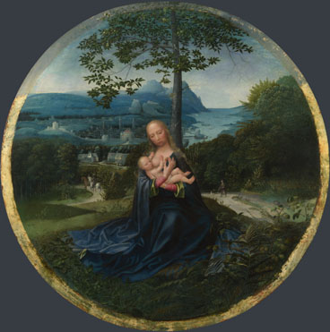Netherlandish: 'The Virgin and Child in a Landscape'