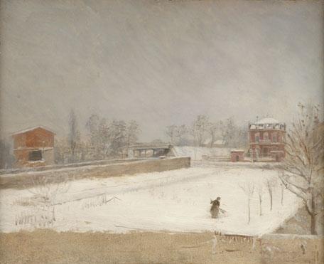 Giuseppe De Nittis: 'Winter Landscape'