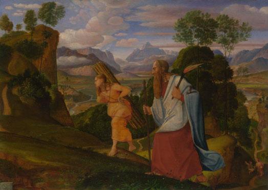Johann Heinrich Ferdinand Olivier: 'Abraham and Isaac'