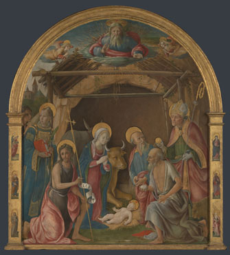 Pietro Orioli: 'The Nativity with Saints'