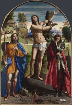 Ortolano: 'Saints Sebastian, Roch and Demetrius'