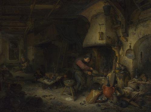 Adriaen van Ostade: 'An Alchemist'