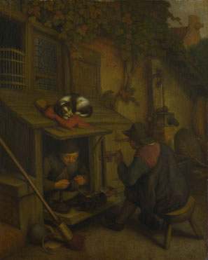 After Adriaen van Ostade: 'A Cobbler'