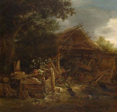 Isack van Ostade: 'A Farmyard'