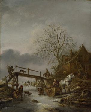 Isack van Ostade: 'A Winter Scene'