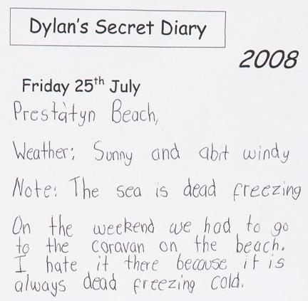 Dylan's secret diary