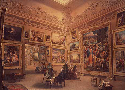 A painting showing the interior of Angerstein's house, the original home of the Gallery
