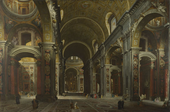 Giovanni Paolo Panini: 'Rome: The Interior of St Peter's'