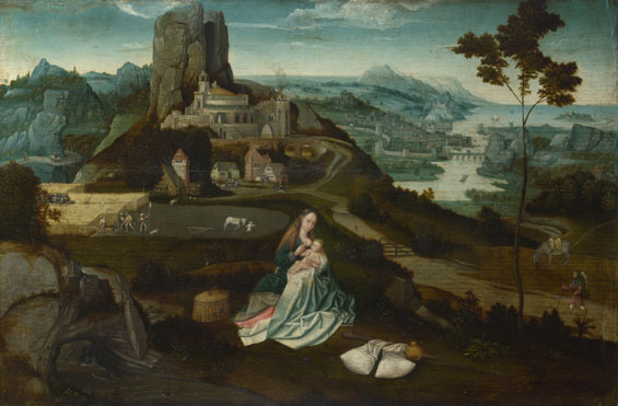 Workshop of Joachim Patinir: 'Landscape with the Rest on the Flight into Egypt'
