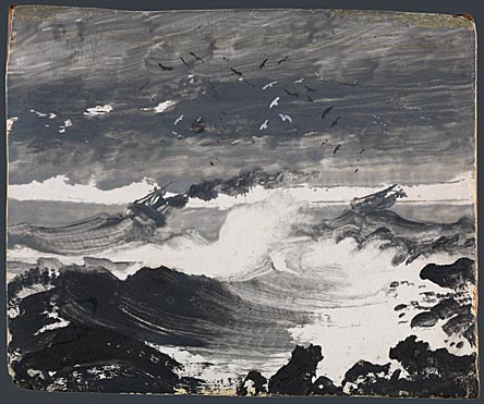 Peder Balke, The Tempest, about 1862