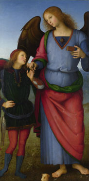 Pietro Perugino: 'The Archangel Raphael with Tobias'