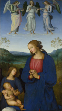 Pietro Perugino: 'The Virgin and Child with an Angel'