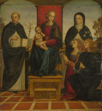 Follower of Pietro Perugino: 'The Virgin and Child with Saints'