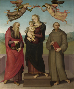 Workshop of Pietro Perugino: 'The Virgin and Child with Saints Jerome and Francis'