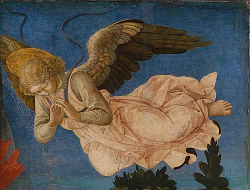 Francesco Pesellino and completed by Fra Filippo Lippi and workshop: 'Angel (Right Hand)'