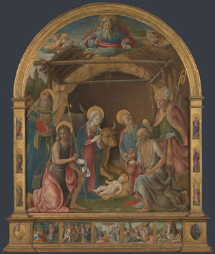 Pietro Orioli: 'The Nativity with Saints Altarpiece'