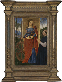 Pintoricchio, Saint Catherine of Alexandria with a Donor, probably about 1480-1500