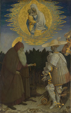 Pisanello: 'The Virgin and Child with Saints'