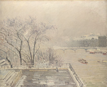 Camille Pissarro, The Louvre under Snow