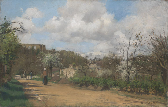 Camille Pissarro: 'View from Louveciennes'