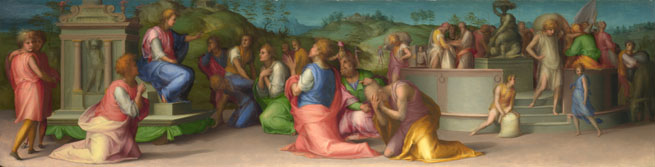 Pontormo: 'Joseph's Brothers beg for Help'