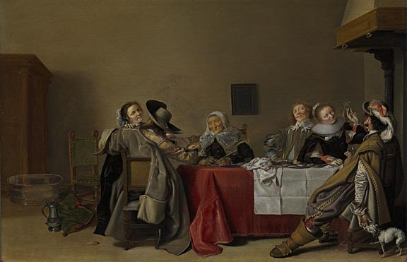Hendrick Pot: 'A Merry Company at Table'
