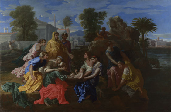 Nicolas Poussin: 'The Finding of Moses'