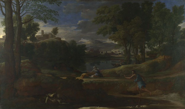 Nicolas Poussin: 'Landscape with a Man killed by a Snake'