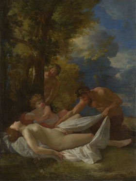 Nicolas Poussin: 'Nymph with Satyrs'