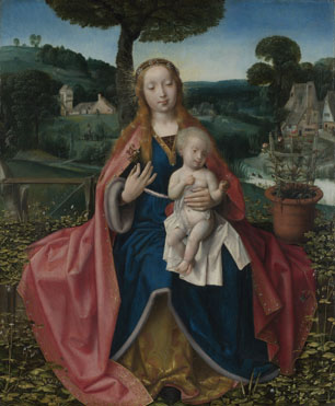 Attributed to Jan Provoost: 'The Virgin and Child in a Landscape'