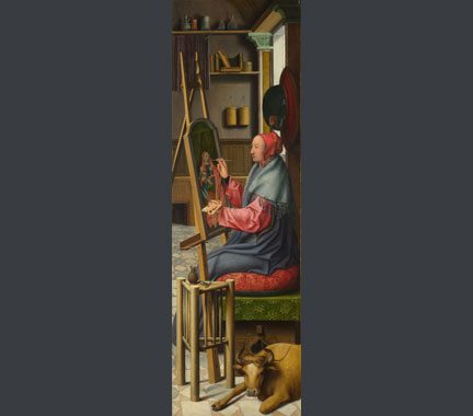 Follower of Quinten Massys, 'Saint Luke painting the Virgin and Child', about 1520?