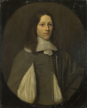 Abraham Raguineau: 'Portrait of a Young Man in Grey'