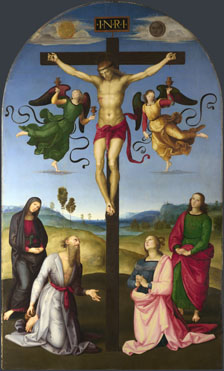 Raphael: 'The Crucified Christ with the Virgin, Saints and Angels'