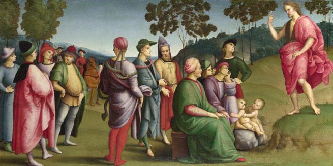 Raphael: 'Saint John the Baptist Preaching'