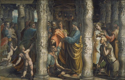 Raphael: 'The Healing of the Lame Man'.