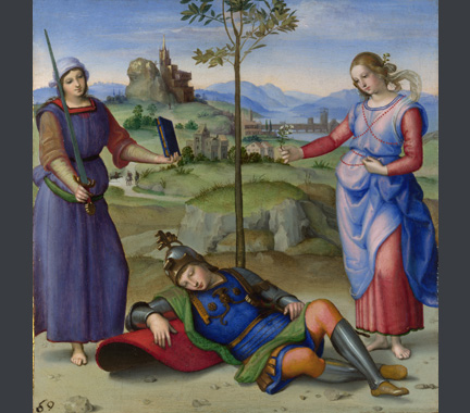 Raphael, An Allegory ('Vision of a Knight'), about 1504