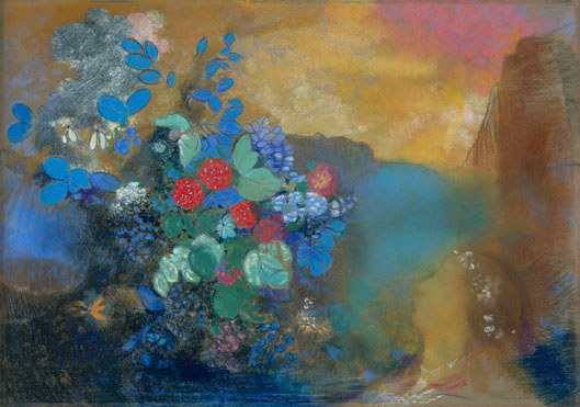 Odilon Redon: 'Ophelia among the Flowers'