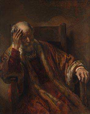 Follower of Rembrandt: 'An Old Man in an Armchair'
