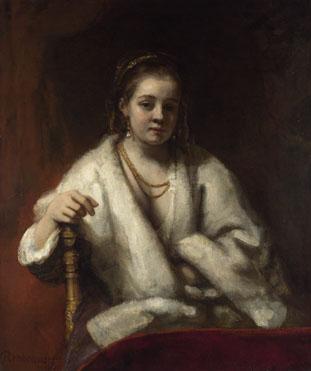 Rembrandt: 'Portrait of Hendrickje Stoffels'