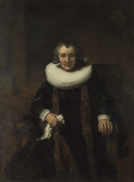 Rembrandt: 'Portrait of Margaretha de Geer, Wife of Jacob Trip'
