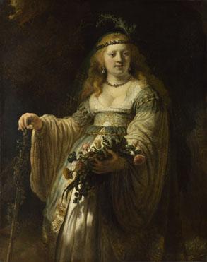 Rembrandt: 'Saskia van Uylenburgh in Arcadian Costume'
