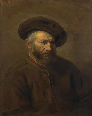 Imitator of Rembrandt: 'A Study of an Elderly Man in a Cap'